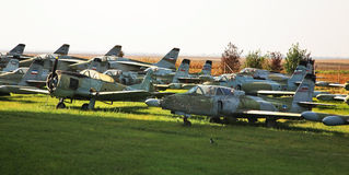 Fighter aircrafts in Belgrade. Serbia Royalty Free Stock Photography