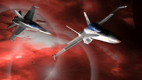 Fighter airplanes stock video
