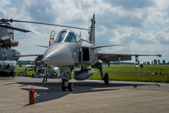 Fighter, attack and reconnaissance aircraft Saab JAS-39 Gripen. Royalty Free Stock Photo