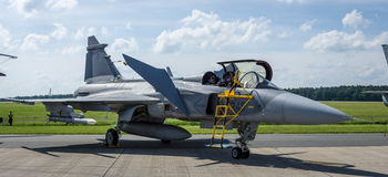 Fighter, attack and reconnaissance aircraft Saab JAS-39 Gripen. Stock Photo