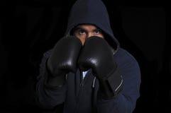 Fighter on black background Stock Image