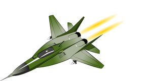 Fighter bomber. Isolated on white. Vector illustration Stock Images