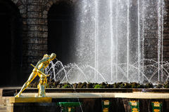 Fighter Borghese. The sculpture of the Grand cascade in Petergof. Royalty Free Stock Photos