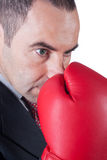 Fighter business man Royalty Free Stock Image