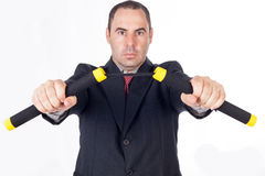 Fighter business man Royalty Free Stock Photography