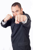 Fighter business man Stock Photos