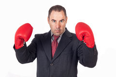 Fighter business man Stock Image