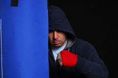 Fighter in concentration moment Stock Photo