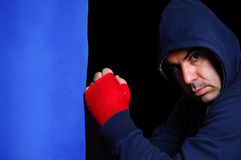 Fighter in concentration moment Stock Images