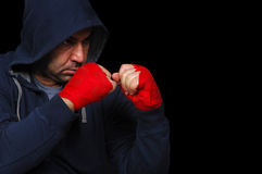 Fighter in concentration moment Royalty Free Stock Photos
