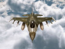 Fighter. 3D CG rendering of a fighter Royalty Free Stock Photo