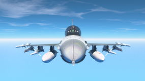 Fighter. 3D CG rendering of a fighter Stock Photo