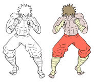 Fighter draw Royalty Free Stock Image