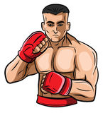 Fighter. Eps 10  illustration Design Royalty Free Stock Photography