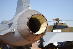 Fighter exhaust Royalty Free Stock Photography