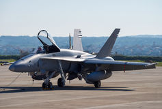 Fighter F-18 Royalty Free Stock Photography