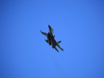 Fighter in flight royalty free stock images