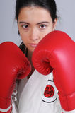Fighter girl Stock Photos