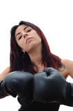 Fighter girl Stock Photography