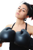 Fighter girl Royalty Free Stock Photos