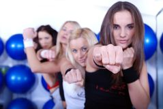 Fighter girls Royalty Free Stock Photos