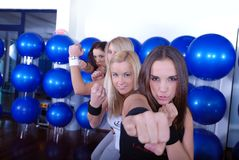 Fighter girls Stock Photography
