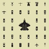 fighter icon. Transport view from above icons universal set for web and mobile royalty free illustration