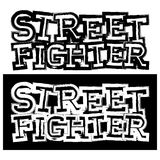 Fighter. Inscription street fighter. For tattoo or t-shirt design Royalty Free Stock Photo