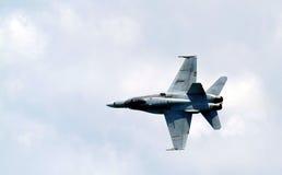 Fighter Jet. Fighter ket om a left bank turn Royalty Free Stock Photo