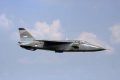 Fighter jet. Modern fighter jet in flight Stock Image