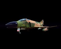 Fighter Jet. On a black background Stock Photography