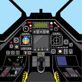 Fighter Jet Cockpit. Illustrations clip-art vector Royalty Free Stock Photography