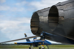 Fighter Jet Engine Royalty Free Stock Images
