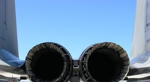Fighter Jet Engines. Jet engines of an F-15 Stock Images