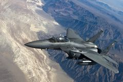 Fighter Jet, F 15 Strike Eagle Royalty Free Stock Image