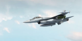 Fighter jet. In the flight Royalty Free Stock Photography