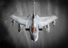 Fighter jet in flight. Swept RAF Tornado GR4, currently deployed over Iraq combating ISIS terrorists.  Real aerial aviation photograph Stock Image