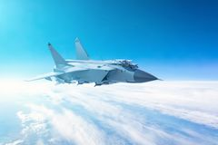 Free Fighter Jet Flying With A Blue Sky Background. Stock Photos - 130182503