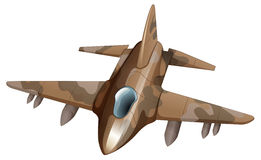 Fighter jet. Illustration of a fighter jet on a white background Stock Photo