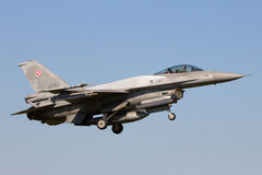 Fighter jet landing Royalty Free Stock Photography
