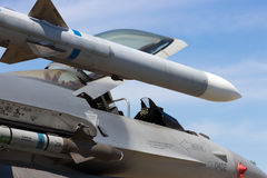 Fighter jet missiles Stock Images