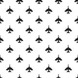 Fighter jet plane pattern, simple style. Fighter jet pattern. Simple illustration of fighter jet vector pattern for web Stock Images