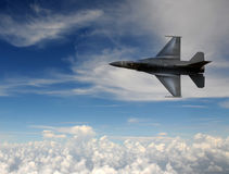 Fighter jet in the sky Royalty Free Stock Image