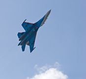 Fighter jet Su-27 Royalty Free Stock Photo
