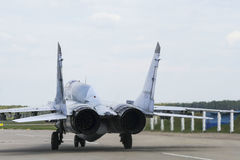 A fighter jet on takeoff Royalty Free Stock Photo