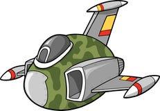 Fighter Jet Vector Illustration. Camo Fighter Jet Vector Illustration Stock Photos
