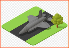 Fighter jet vector. Military jet plane isometric isolated vector eps Illustration. fighter airplane 3d Stock Photos
