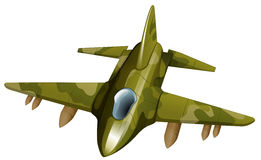 A fighter jetplane. Illustration of a fighter jetplane on a white background Stock Photos