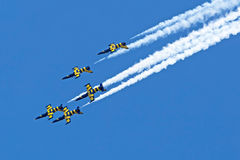 Fighter jets in a air show 2 Stock Photography