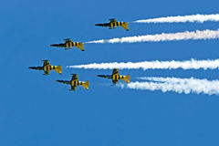 Fighter jets in a air show 1 Royalty Free Stock Image